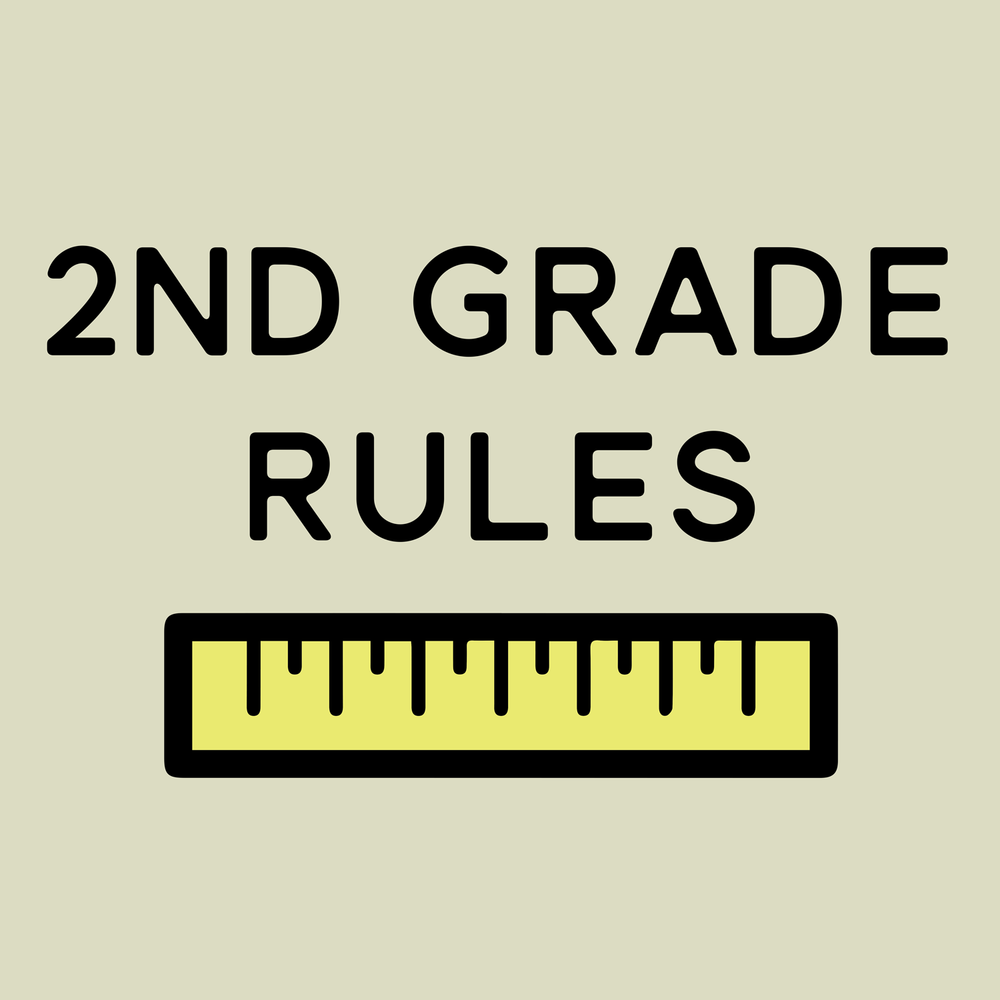 2nd grade rules. Puns rule. This is great for second grade teachers, but can be changed for any grade or subject.