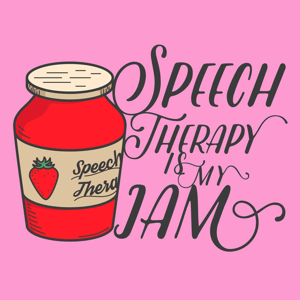 Speech Therapy is my jam! Inspired by a fun line in the film Pitch Perfect. A great shirt for SLPs!