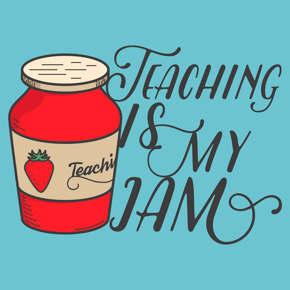 Teaching is my jam! What's yours? This is a fun shirt for any teacher.