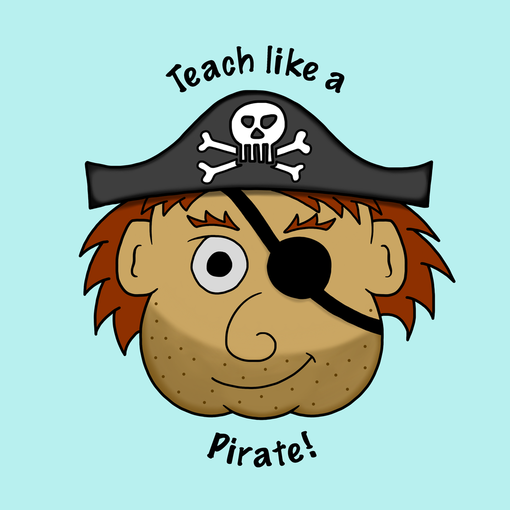 Teach like a pirate! This is a great teacher pirate shirt.