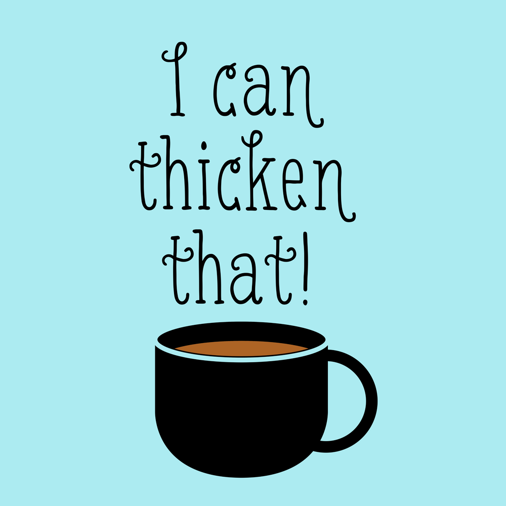 I can thicken that! Great for any speech therapy swag / slp swag for your favorite SLP.