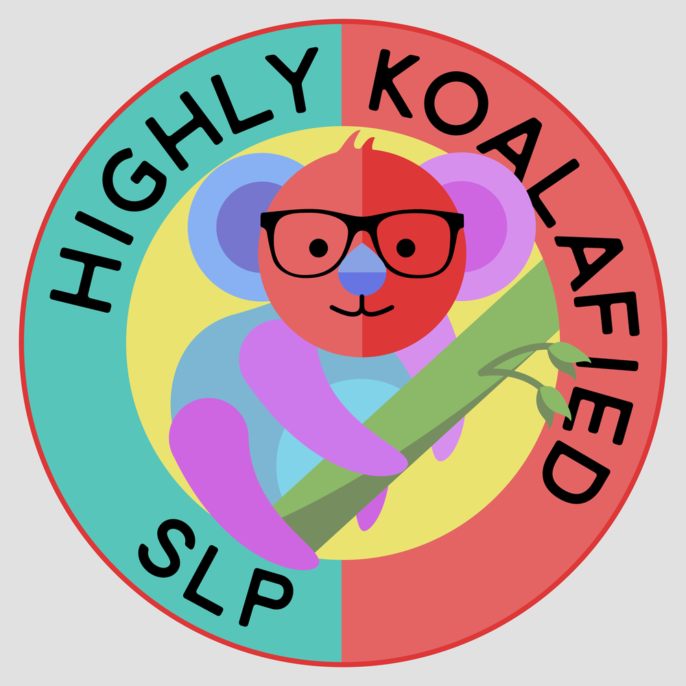 Highly koalafied SLP, at your service. Nerdy glasses koala for your SLP swag, mug, hoodie, and more.