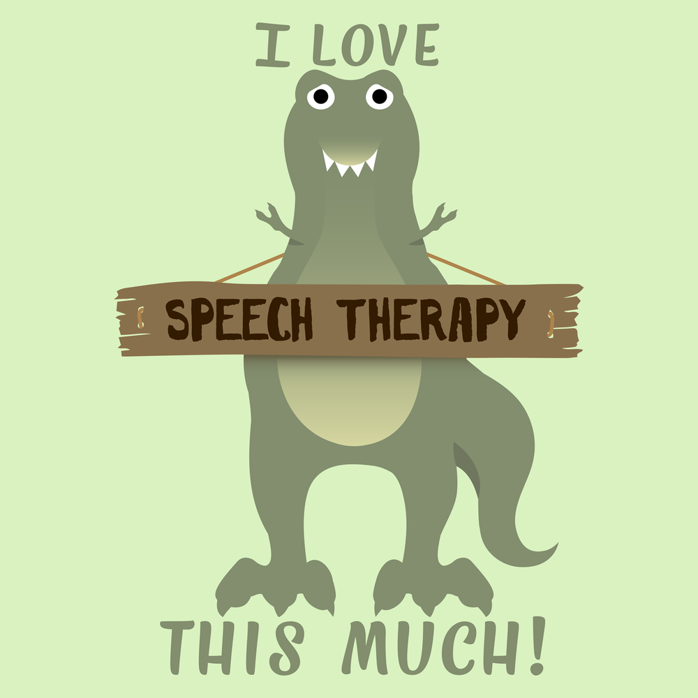 I love speech therapy this much! T-Rex speech therapy fun.