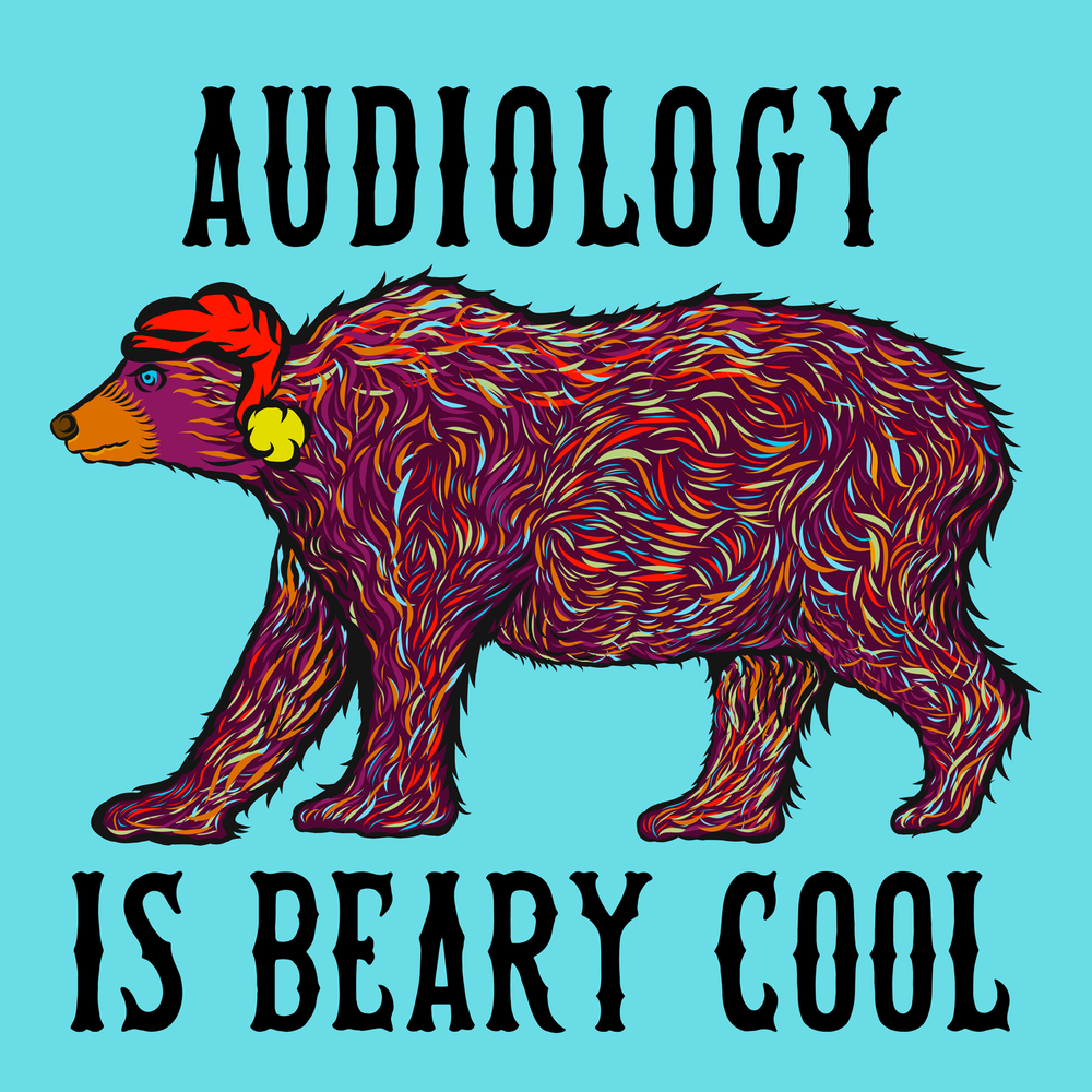 Audiology is beary cool! Great winter wear for audiologists.