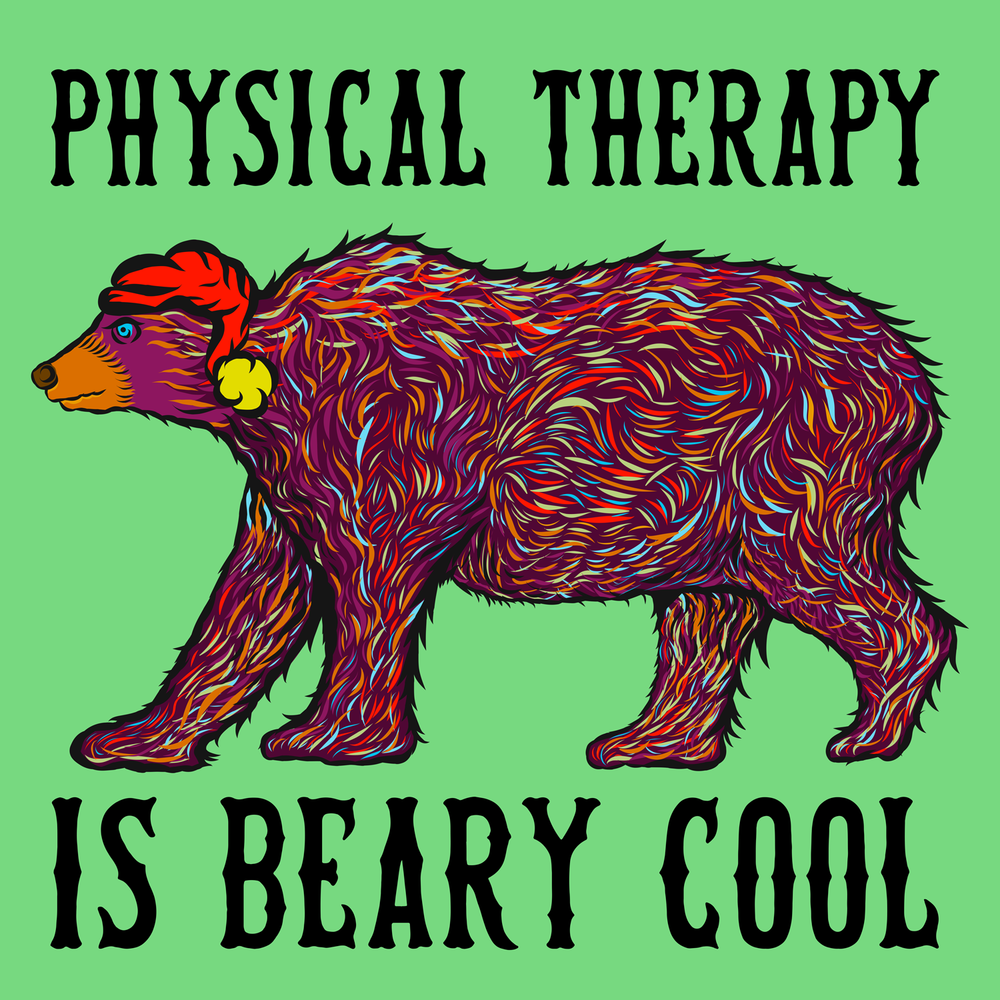 Physical Therapy is beary cool. Great swag for your favorite PT.