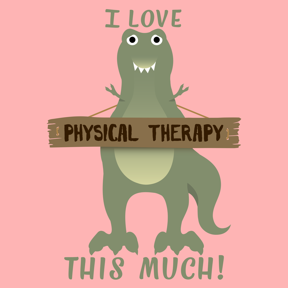 I love physical therapy this much! Just a funny T-Rex shirt for physical therapists.