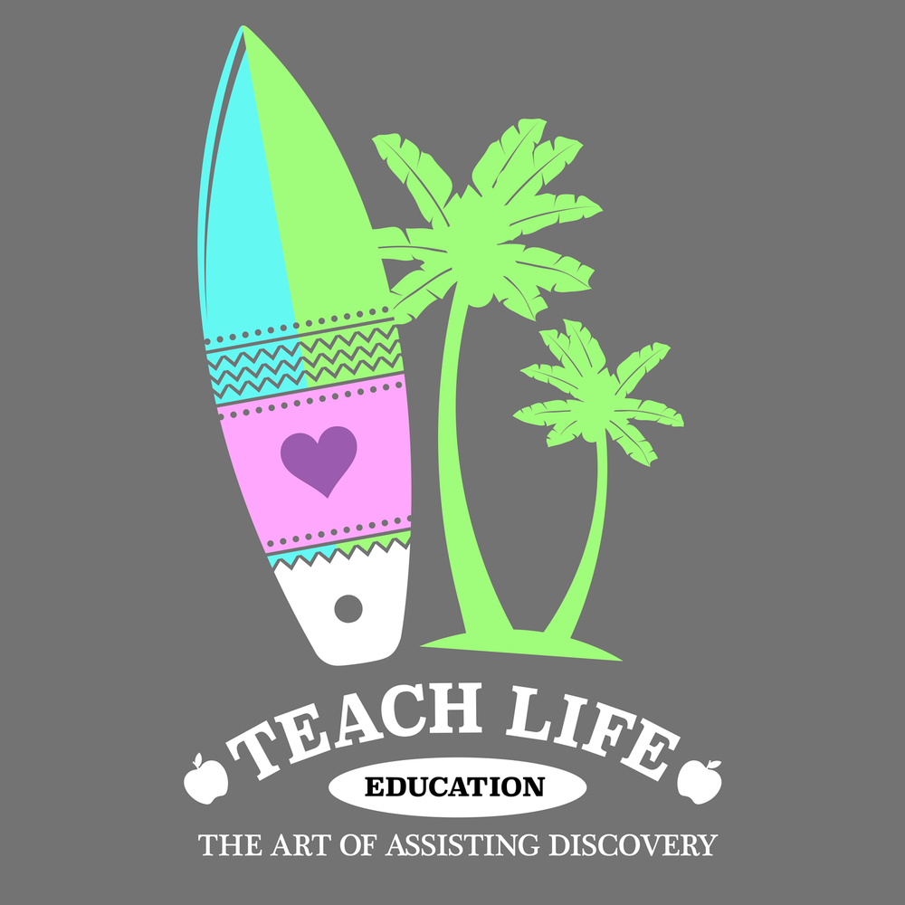 Teach Life apparel by Peachie Speechie. Teach Life is the life for me.