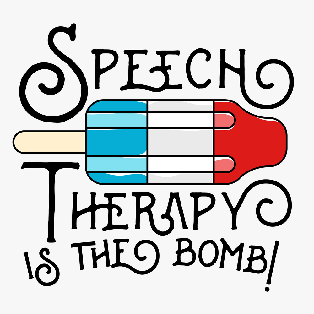 Speech Therapy is the Bomb! Another funny Peachie Speechie tee for SLPs!