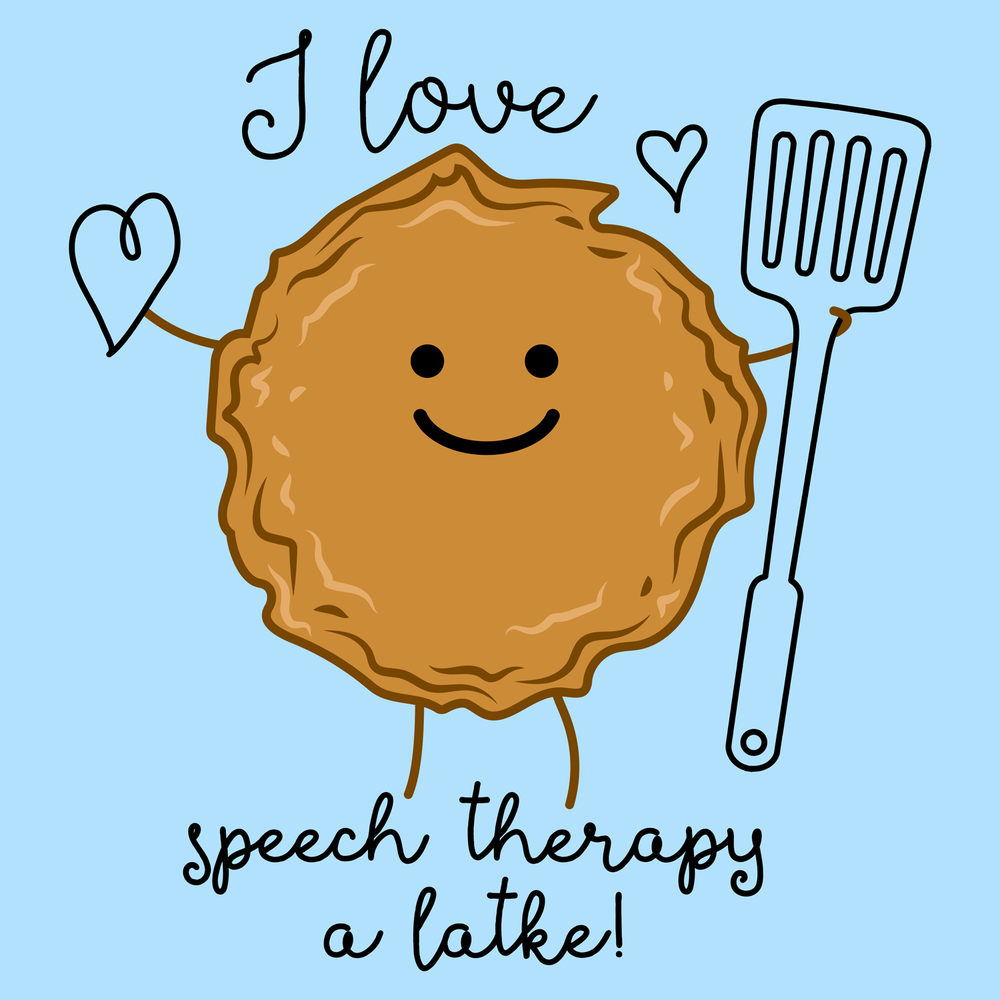 I love speech therapy a latke! Happy Hannukah from Peachie Speechie!