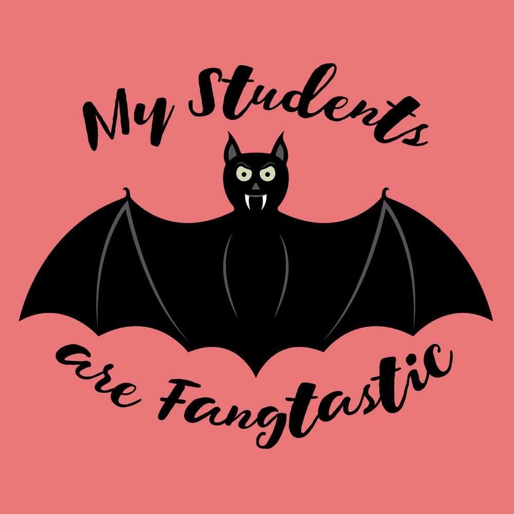 My students are fangtastic! Happy Halloween from Peachie Speechie. This will make a great t-shirt, hoodie, or accessory for your favorite teacher.