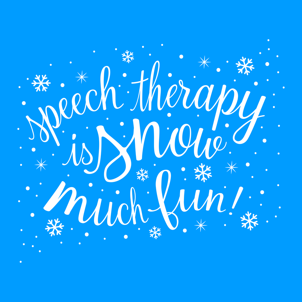 Speech Therapy is snow much fun!