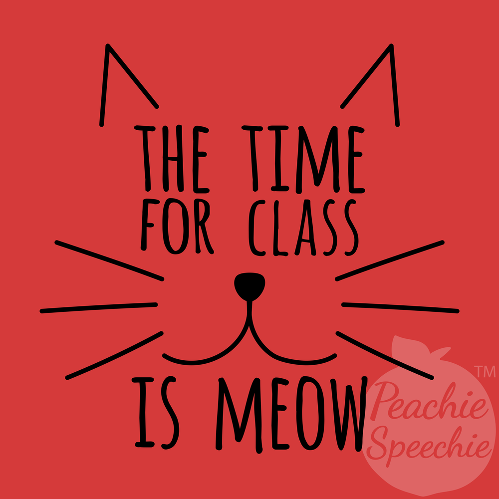 The time for class is meow!