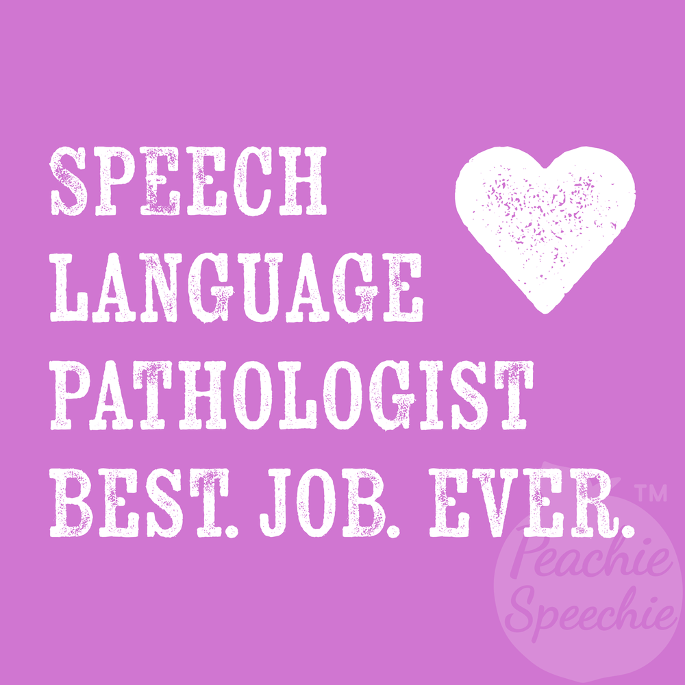 Speech-Language Pathologist Best. Job. Ever. Great speech therapy gifts for your favorite SLP.