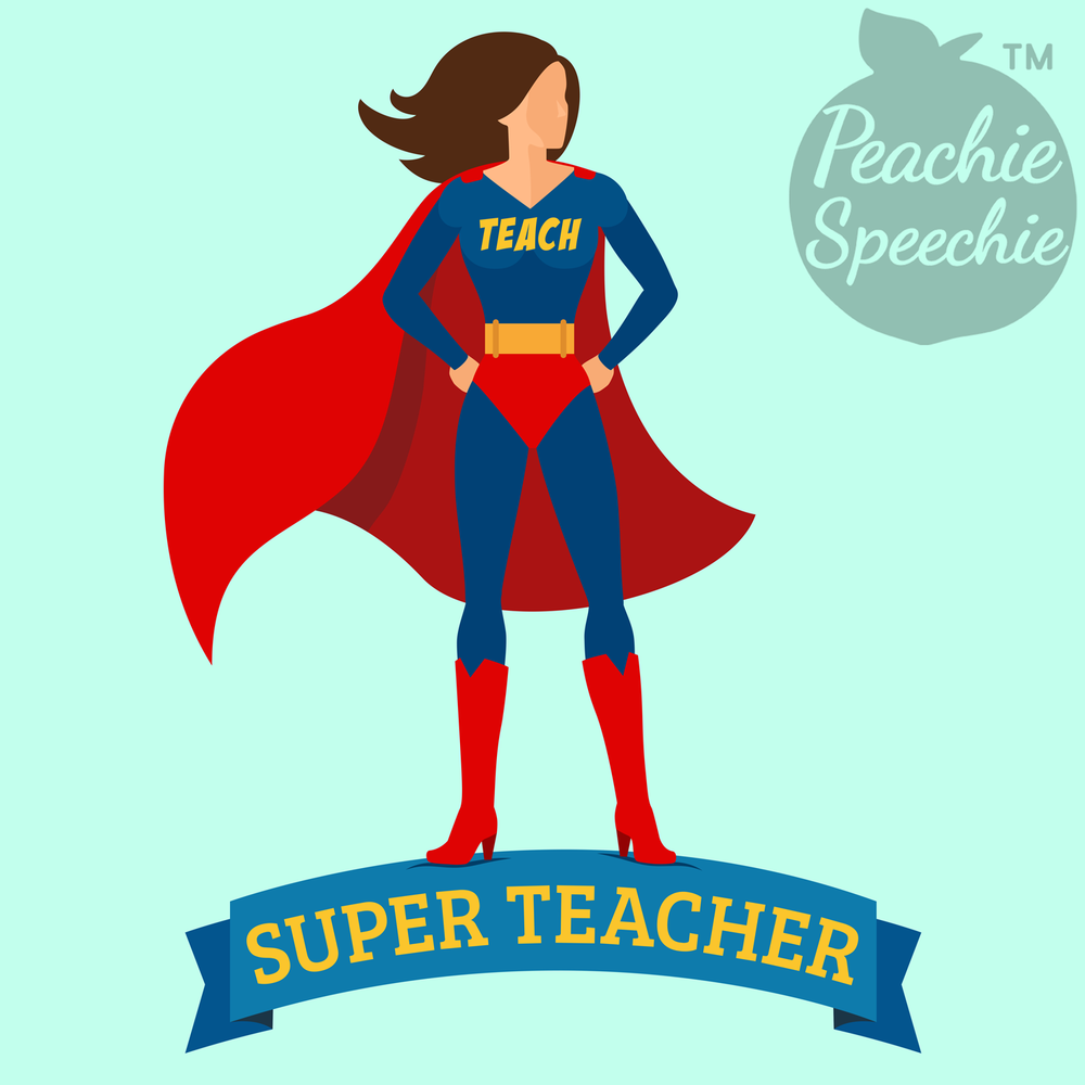 Super Teacher saves the day again! A great shirt, mug, or tote for your favorite teacher! Peachie Speechie