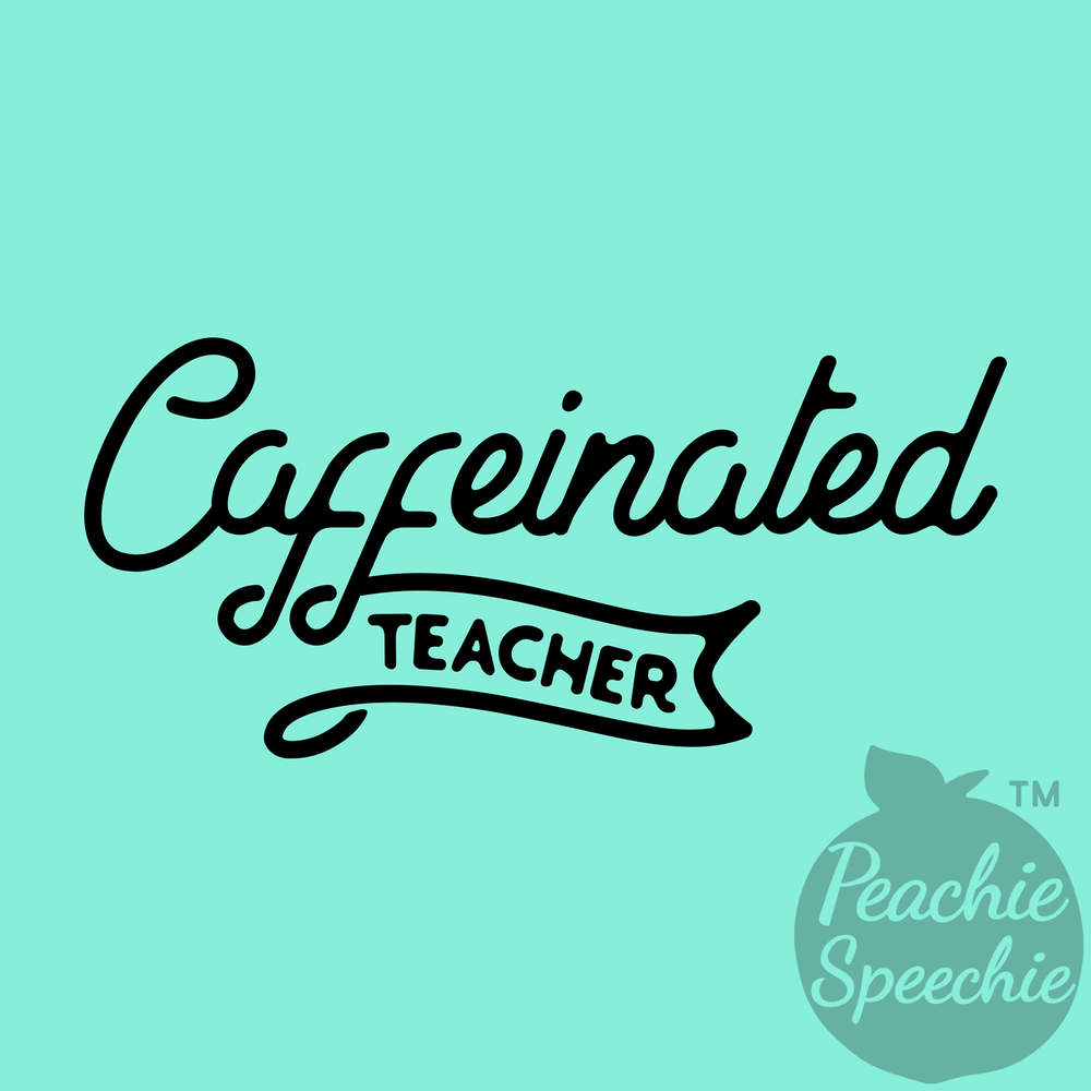 Stay caffeinated and fashionable in this comfy teacher shirt from Peachie Speechie!