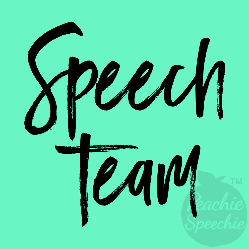 Speech Team apparel! (and totes, mugs, and more!)