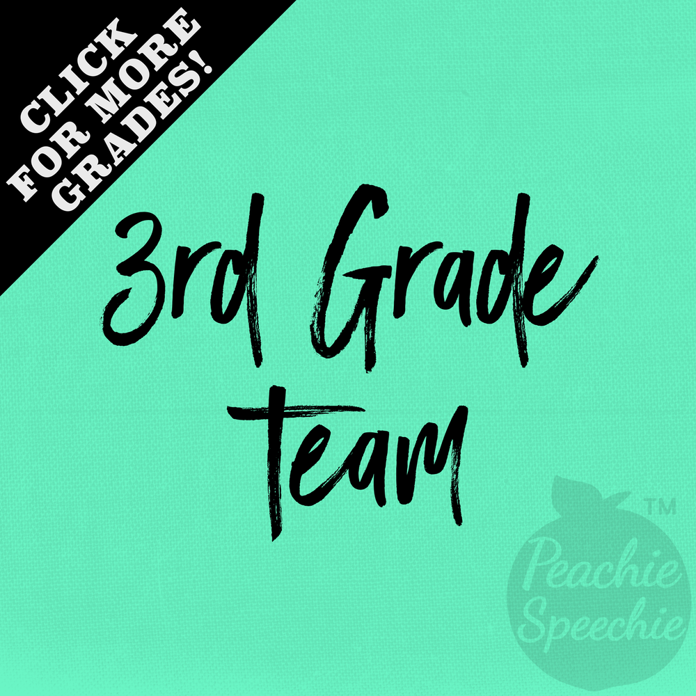 3rd Grade Team - click for other grades! Fun apparel for you and your fellow teacher team!