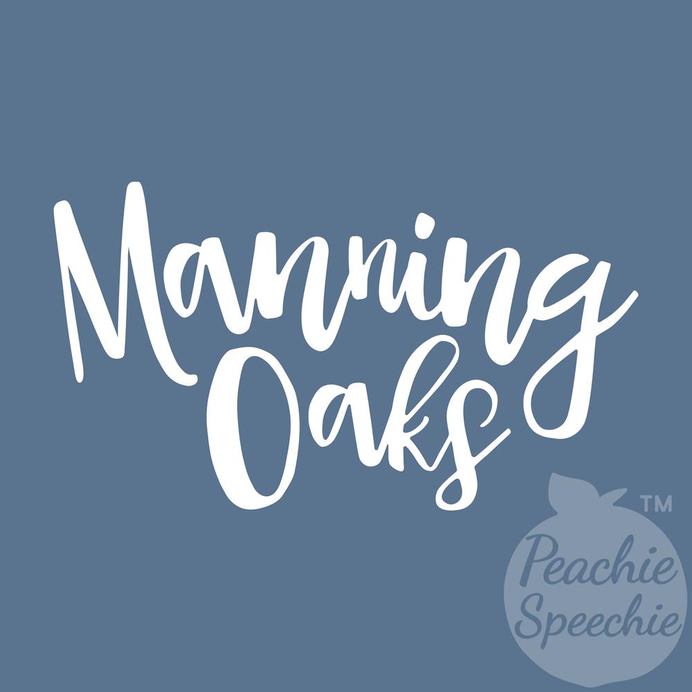 Manning Oaks Script by Peachie Speechie