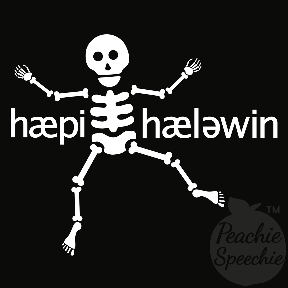 Happy Halloween - phonetic skeleton