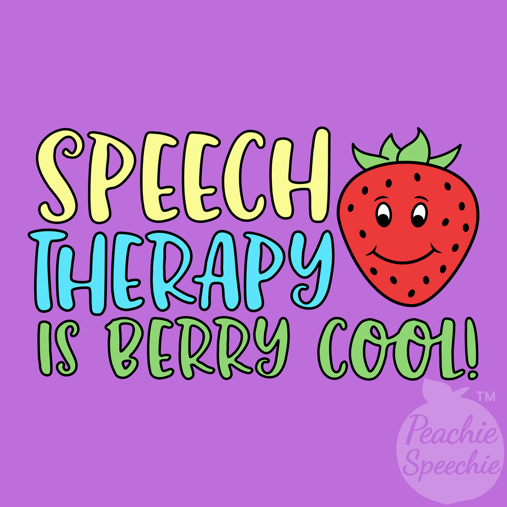 Speech therapy is berry cool!