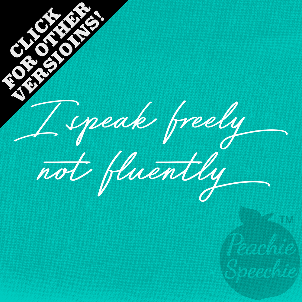 I speak freely, not fluently