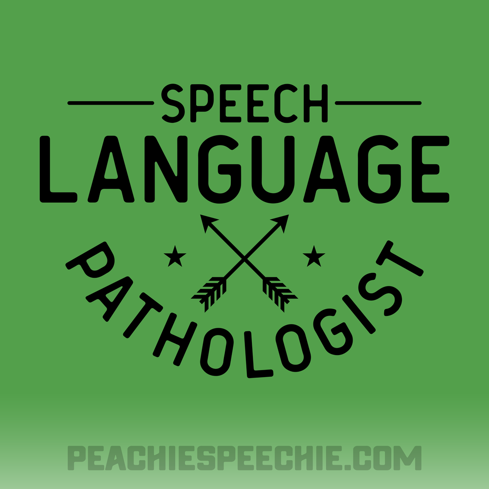 Speech Language Pathologist - The perfect shirt, mug, gift. Order at peachiespeechie.com