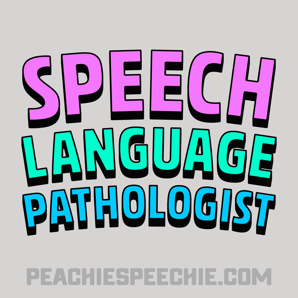 Order this fun shirt, hoodie, mug, or tote at peachiespeechie.com Check out lots of fun speech language pathologist apparel!