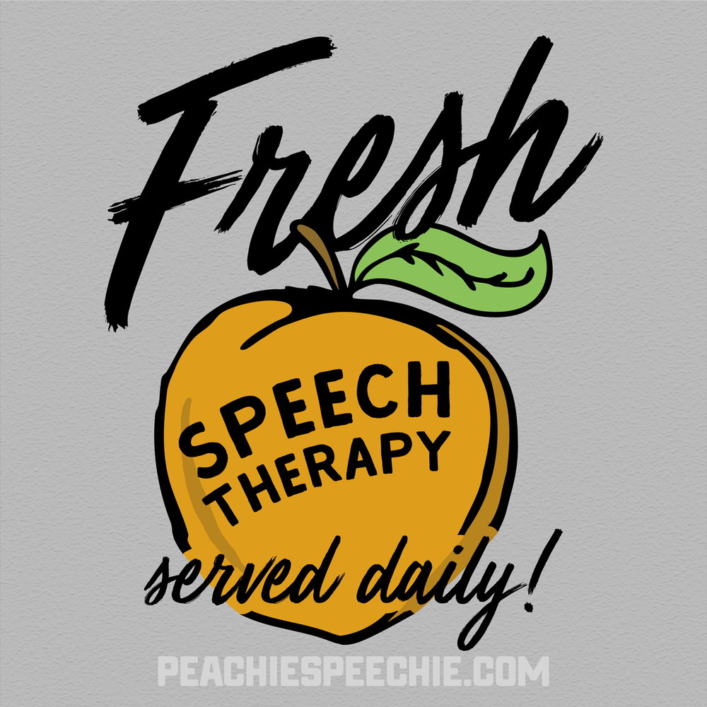 Fresh speech therapy - served daily! See more versions at peachiespeechie.com