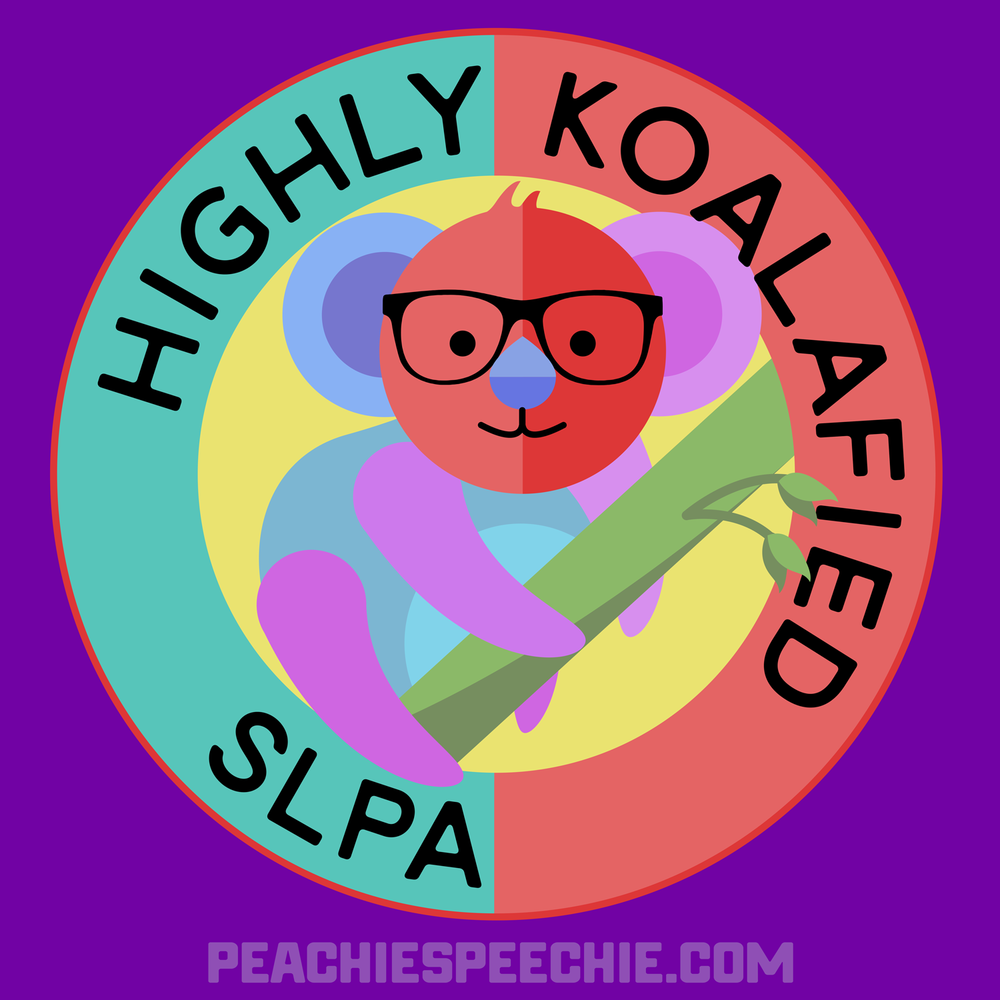Highly koalafied SLPA! Perfect for an awesome speech language pathologist assistant! Get yours at peachiespeechie.com