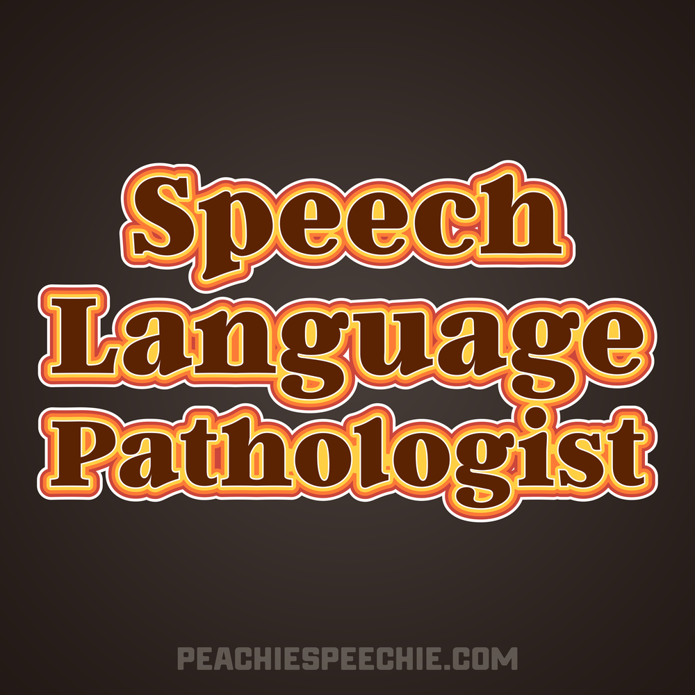 A special vintage/ retro design for a speech-language pathologist. Get yours at peachiespeechie.com