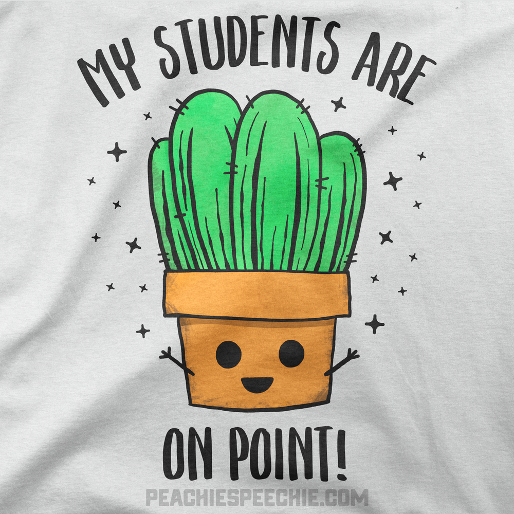 My students are on point! Cactus pun teacher shirts keep you looking sharp!