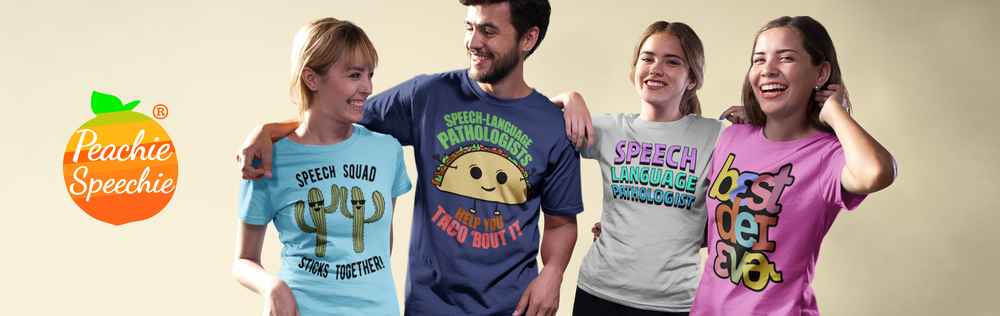 Cute shirts, hoodies, mugs and more for SLPs and teachers!