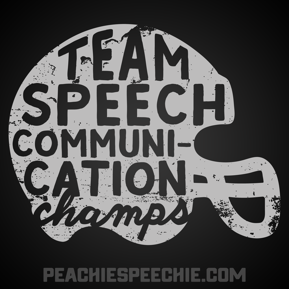 Team Speech! SLP shirts and more for the whole team! Order yours at peachiespeechie.com