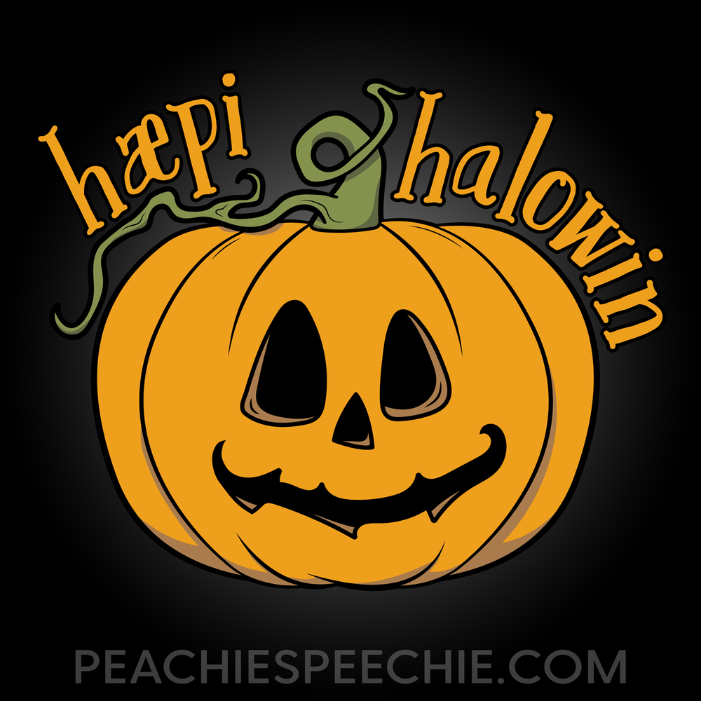 Happy Halloween in IPA! The perfect Halloween shirt for SLPs!