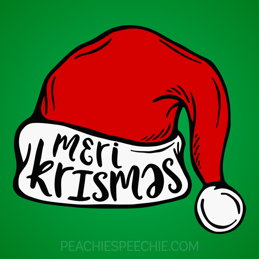 Merry Christmas in IPA! Phonetic shirts are a great way to spread Christmas cheer! Order yours at peachiespeechie.com