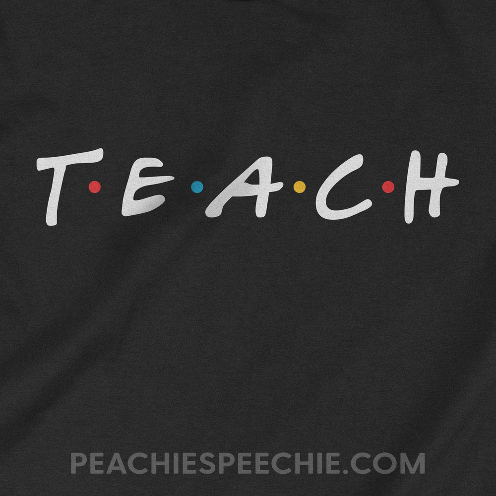 The original Friends themed teacher shirt! See more at peachiespeecie.com/teacher-apparel