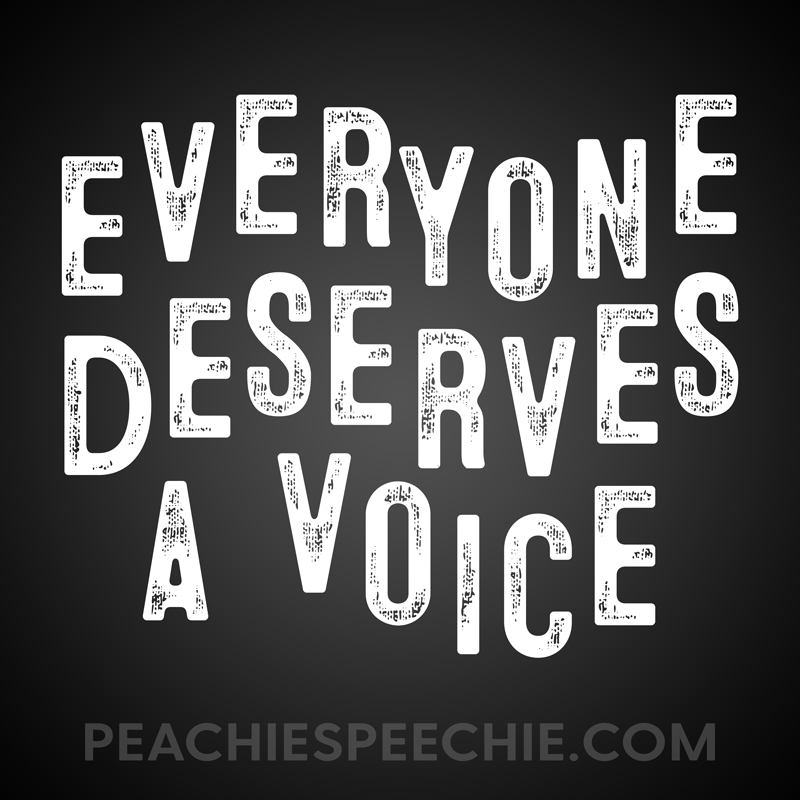 Everyone deserves a voice!