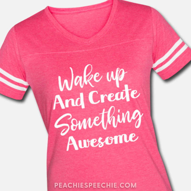 Wake up and create something awesome! Order yours at peachiespeechie.com