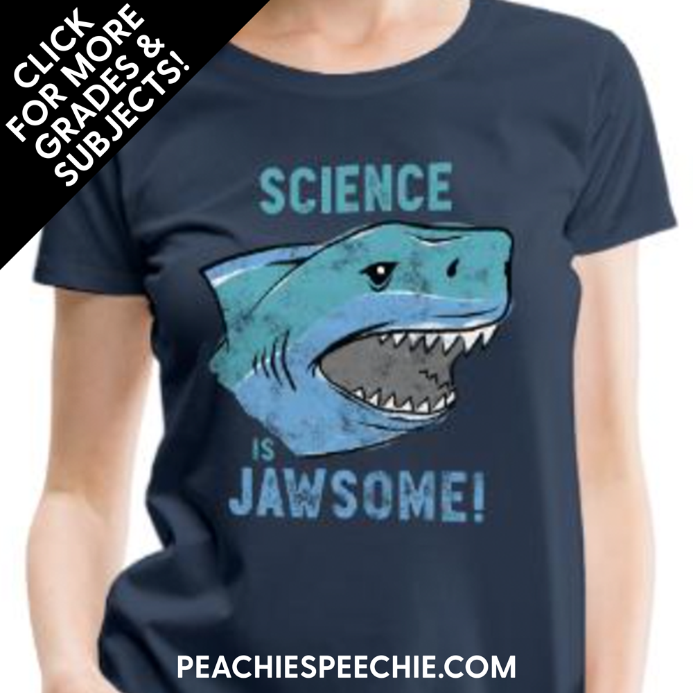 Teaching is Jawsome! See more grades and subjects at peachiespeechie.com