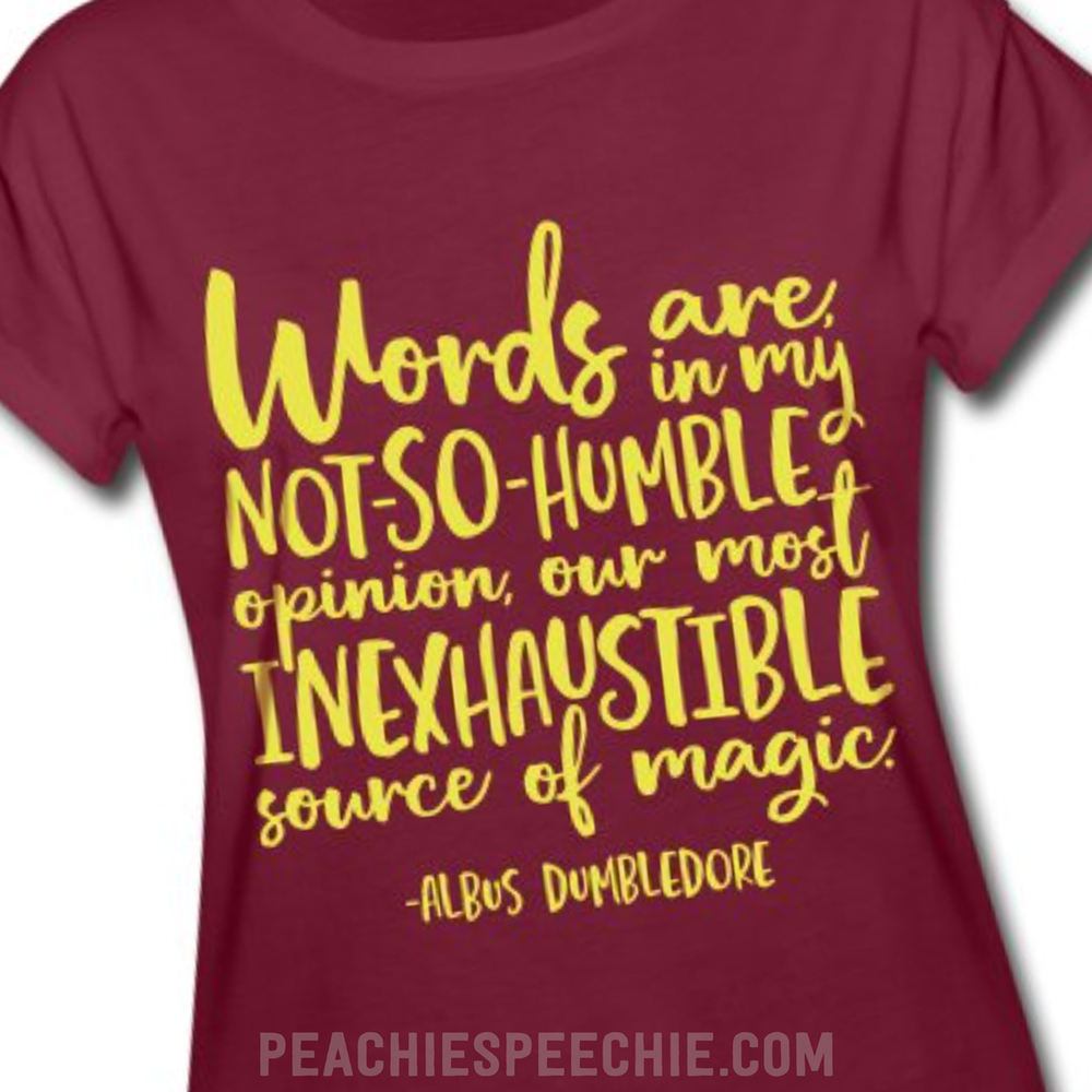 "Dumbledore  ""Words are, in my not-so-humble opinion, our most inexhaustible source of magic."" Written by J.K. Rowling - See more at peachiespeechie.com"