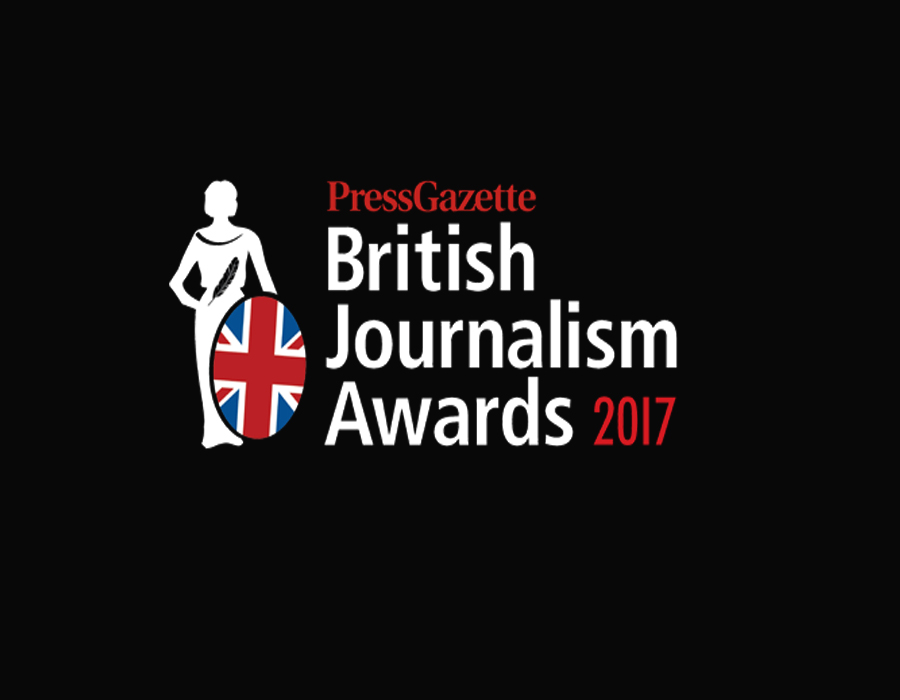 """British Journalism Award 2017  award winner for  6X9  """"Crusading journalism at its 21st century best, and very powerful storytelling indeed"""""""
