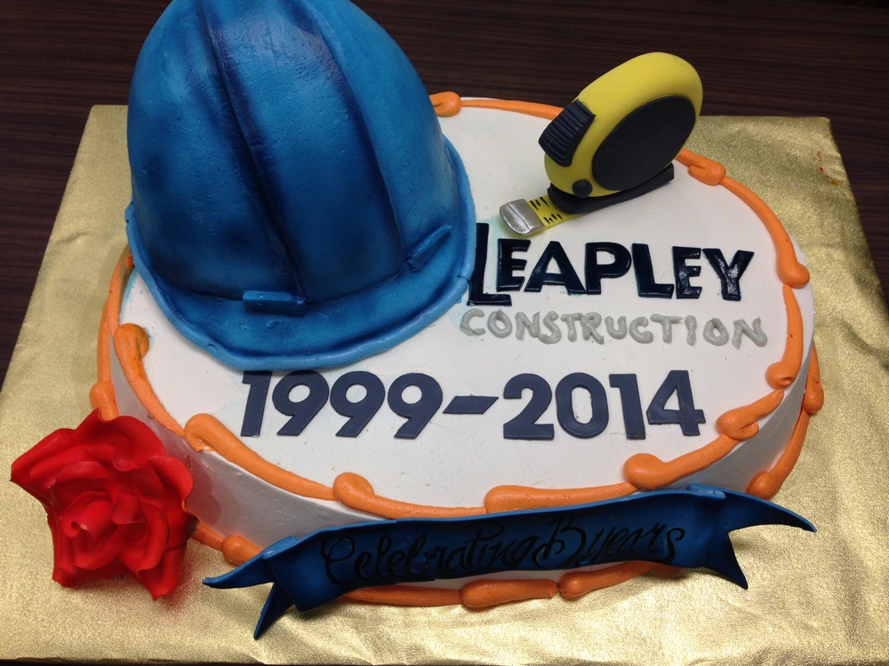leapley construction cake