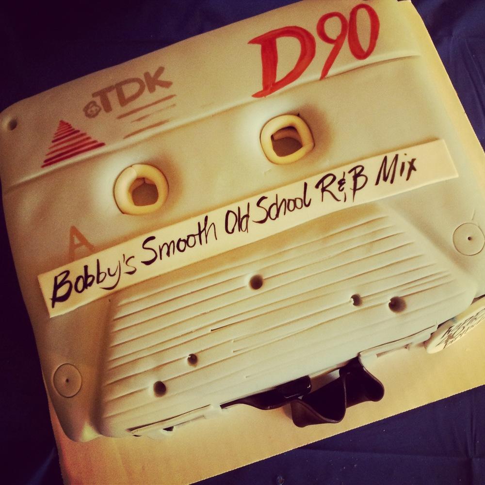 old school cassette cake