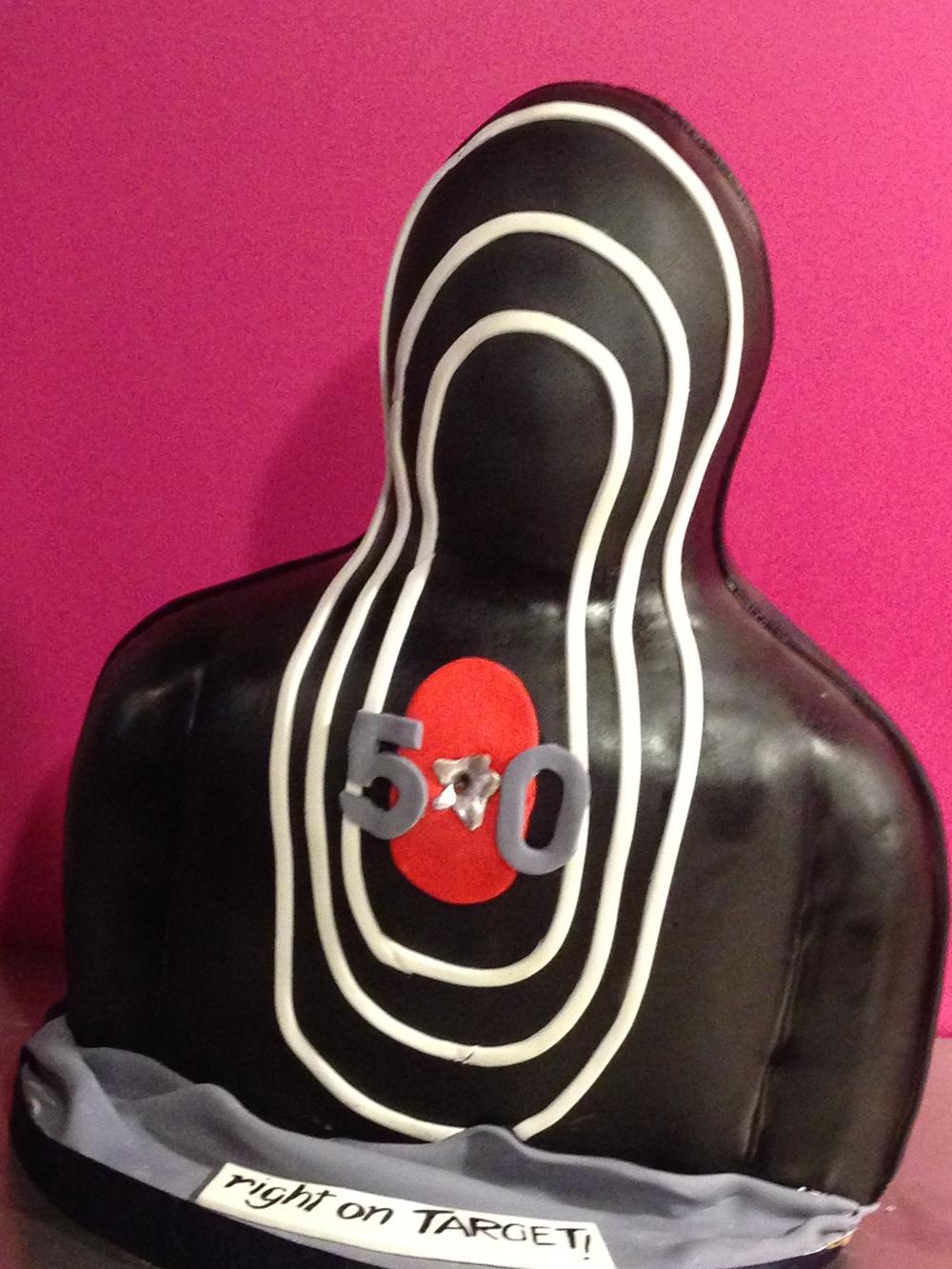 shooting target cake