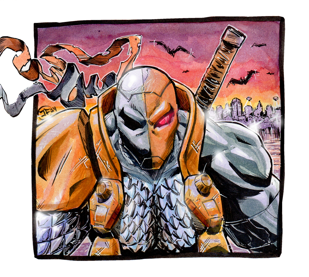Deathstroke Watercolor Sketch!
