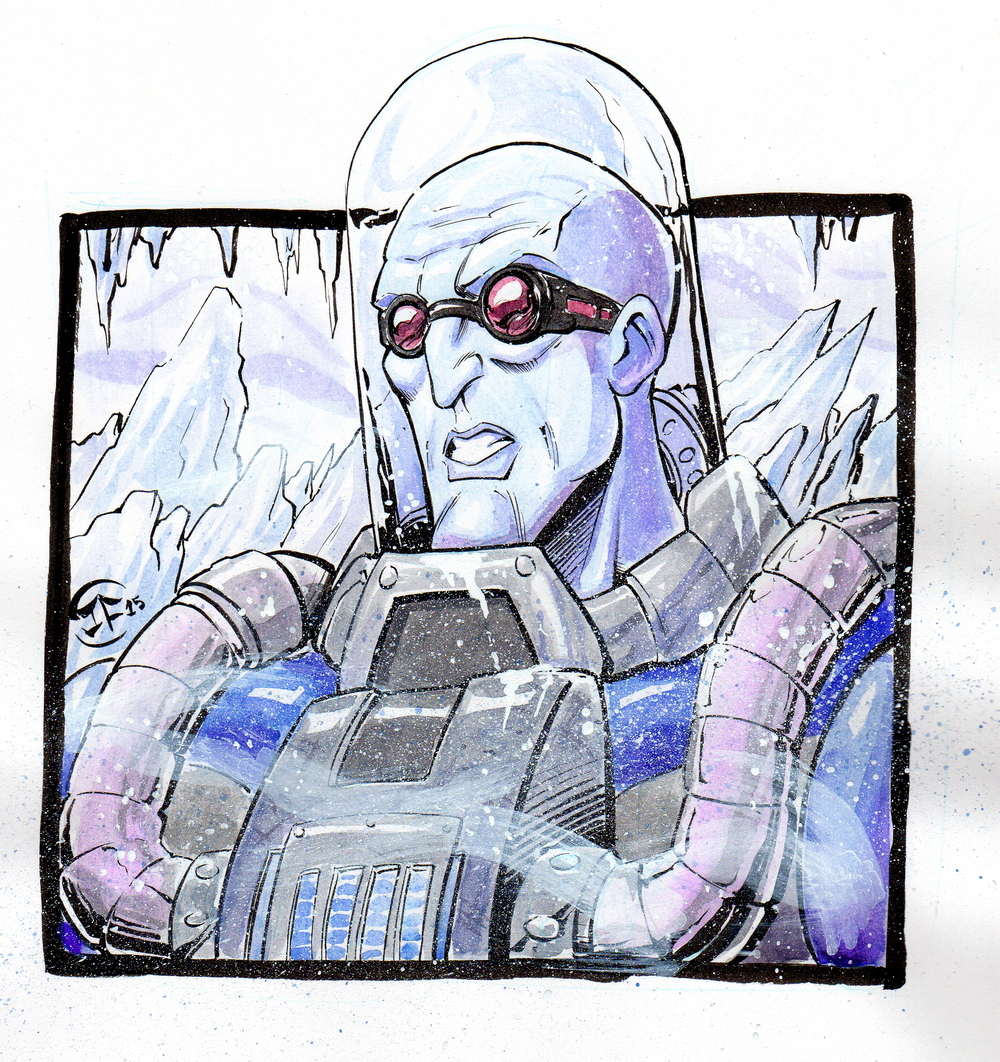 Mr.FREEZE Watercolor Sketch