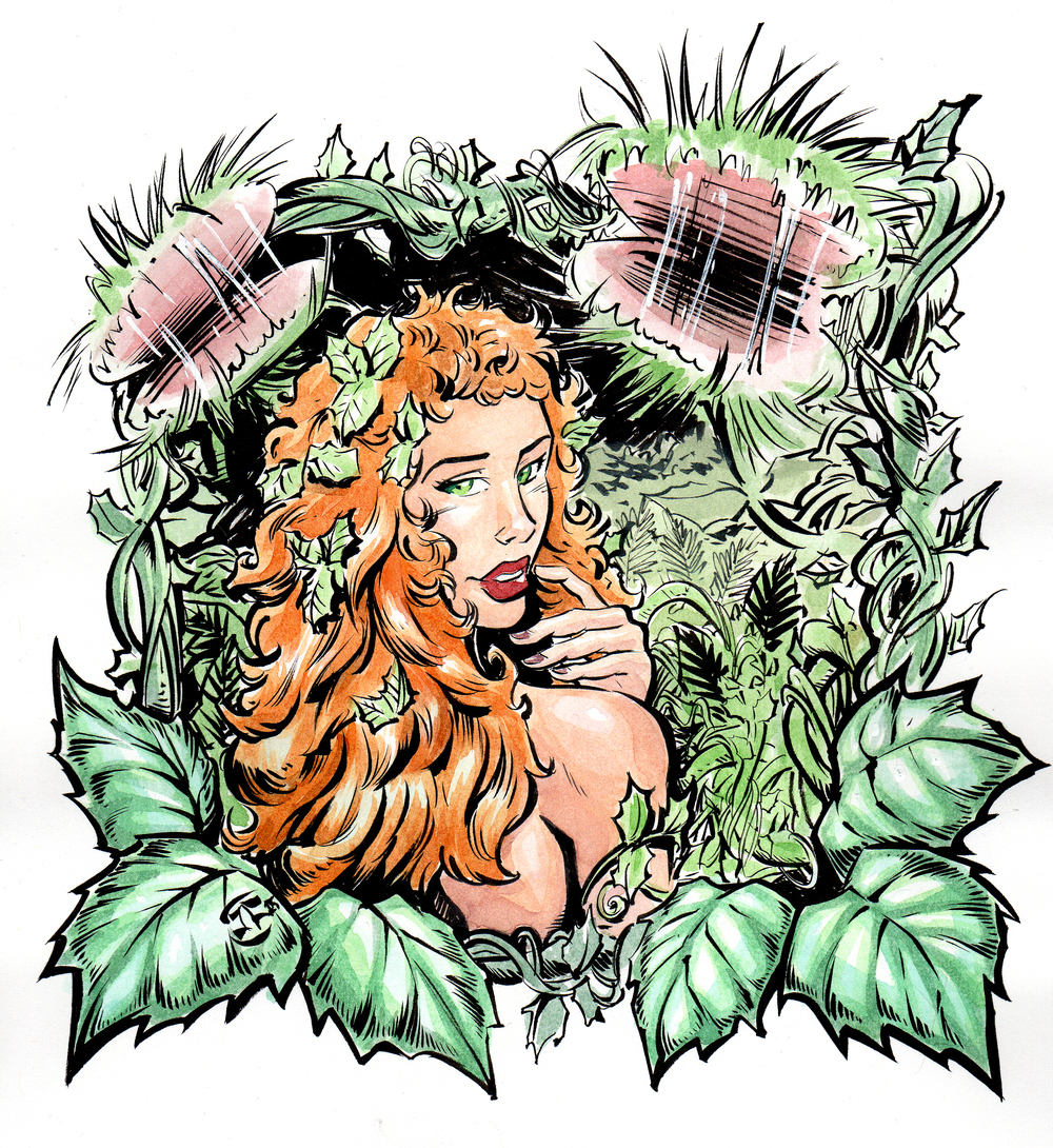 Poison Ivy Watercolor Sketch