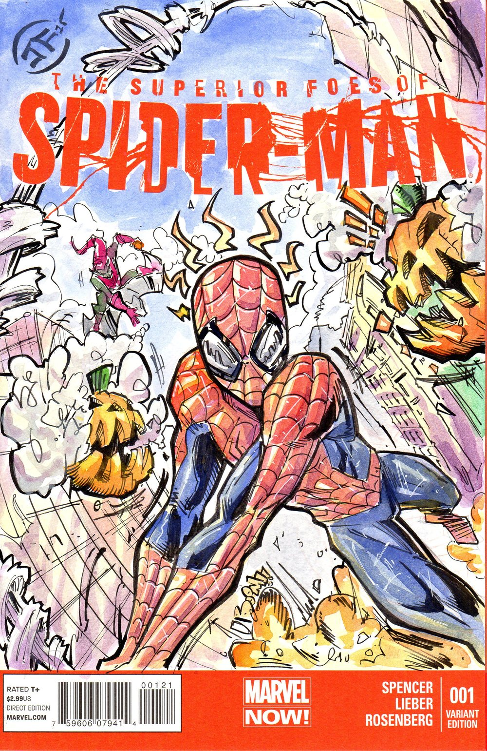 Spiderman Watercolored