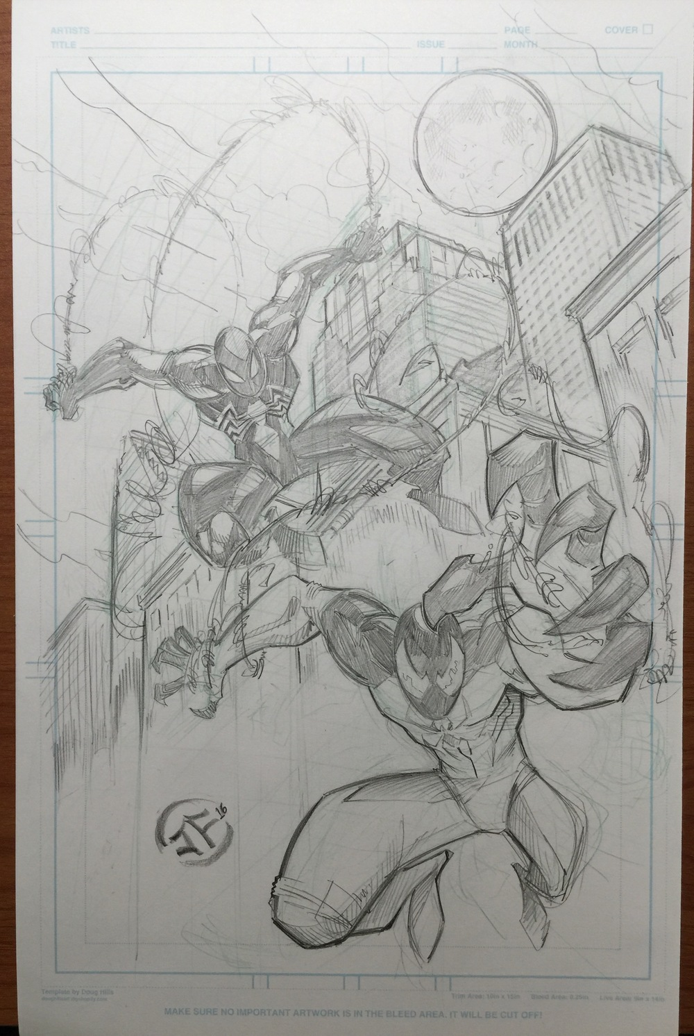 Scarlet Spiderman and black suiterd spiderman commission