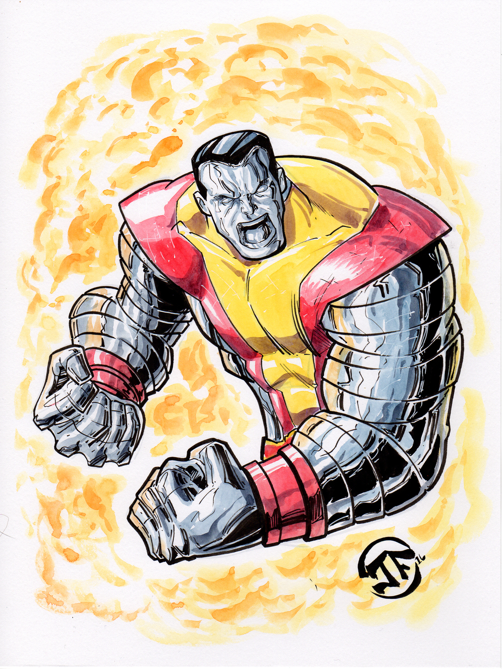 Colossus Watercolor Sketch